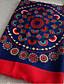 Damer Vintage Bomuld Halstørklæde-Trykt mønster Rektangulær