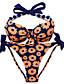 Kvinders Nylon / Spandex Halterneck Blomstret Bikini