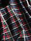 Damen A-Linie Kleid-Lässig/Alltäglich Einfach Verziert Ständer Übers Knie ¾-Arm Mehrfarbig Kunstseide Nylon Herbst Hohe Hüfthöhe