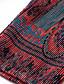 Damen A-Linie Kleid-Lässig/Alltäglich Chinoiserie Geometrisch Ständer Übers Knie Langarm Rot Polyester Herbst Mittlere Hüfthöhe Dehnbar