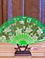 """Tuulettimet ja aurinkovarjot-# Kukin / Set Hand Fans Vaaleanpunainen Valkoinen Syreeni Vihreä Sininen Musta Keltainen8 1/2""""korkea x 19"""