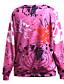 Damen Pullover Lässig/Alltäglich Aktiv Druck Rundhalsausschnitt Mikro-elastisch Polyester Langarm Herbst Winter