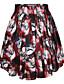 Damen Röcke,A-Linie DruckLässig/Alltäglich Tiefe Hüfthöhe Mini Elastizität Polyester Micro-elastisch Sommer Herbst