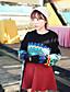 Damen Standard Pullover-Festtage Einfarbig Rundhalsausschnitt Langarm Andere Frühling Herbst Mittel Mikro-elastisch