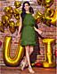 Coloană / Teacă Bijuterie Lungime Genunchi Șifon Petrecere Cocktail Venire Acasă Petrecere Nuntă Rochie cu Mărgele Eșarfă / Panglică deTS