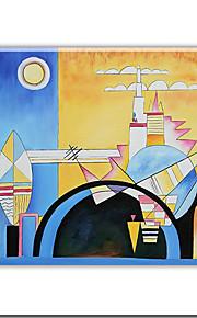 """strukket håndlaget oljemaleri med strukket bar av Wassily Kandinsky 20 """"x 24"""" szh174 gratis frakt"""