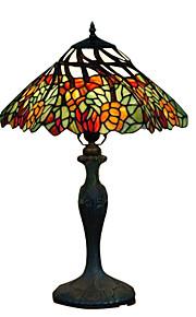 PIMA - Tischlampe Tiffany Floral mit Bronze-Lackierung