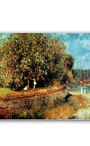 håndmalte oljemaleri kastanjetre i full blomst etter Pierre-Auguste Renoir med utstrakte ramme