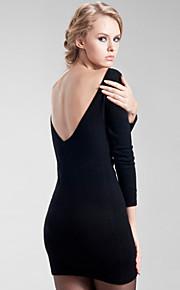 open rug van vrouwen kasjmier bodycon jurk