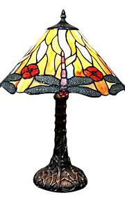 Tiffany-Stil Libelle Muster Glasmalerei Tischlampe Schirmgewölbes