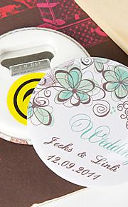 personnalisée décapsuleur / Aimant - fleur verte (jeu de 12)
