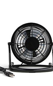 4inch usb mini fan med plast blad ulitra-laveffekt-vind volum svart