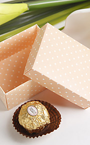 Pink Favor Box With Polka Dots (Set of 12)