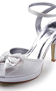 satijn bovenste hoge hak sandaaltjes met strass / bowknot bruiloft bruids schoenen