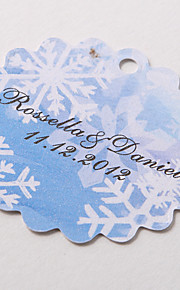 Personalized Scalloped Favor Tag – Snowflake (Set of 60)