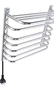 65W vægbeslag spejlfinish cirkulære rør håndklæde warmmer tørrestativ