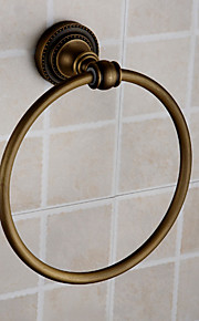 fini laiton antique mural porte-serviettes anneau