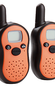 mini 8-kanals walkie talkie (5 km interval, 2-pak, orange)
