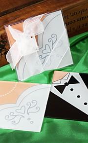 bruid en bruidegom coasters (set van 2)
