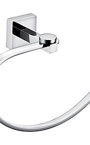 "YALI.M®,Anneau à Serviette Chrome Fixation Murale 215 x 70 x 140mm (8.46 x 2.75 x 5.51"") Laiton Contemporain"
