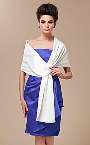 elegante dubbele zijde satijn sjaal bruiloft / speciale gelegenheid shawl (meer kleuren beschikbaar)
