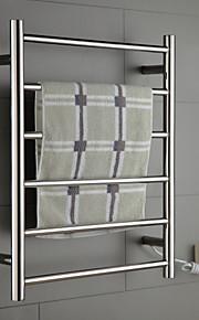 60W rustfritt stål veggfeste sirkulært rør håndkle warmmer tørkestativ