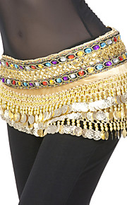 Belly Dance Belt Women's Polyester Coins / Sequins Gold Belly Dance / Performance Spring, Fall, Winter, Summer Natural 9.45inch(24cm)