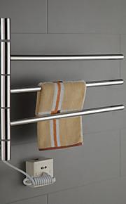 40w swingarm roestvrij stalen ronde buizen handdoek warmmer droogrek
