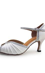 Женская кожа / сверкающие блеском латинские / Обувь для бальных танцев с пряжкой (больше цветов)