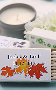 décoration de mariage boîtes d'allumettes personnalisés - feuilles d'érable (jeu de 12)