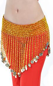Belly Dance Belt Women's Training Polystyrene Coins Gold Belly Dance Spring, Fall, Winter, Summer