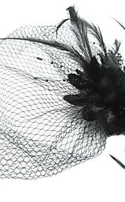 Coiffure/Voile de cage à oiseaux Casque Occasion spéciale Satin/Plume/Tulle Femme Occasion spéciale