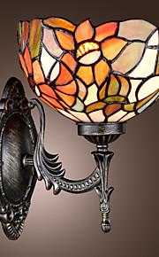 TEWKSBURY - Wandlampe Tiffany Floral mit 1 Glühbirne