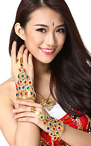 Prestatie Dancewear Legering met Multicolor Crystal Belly Dance Armbanden voor dames (1 Stuk)