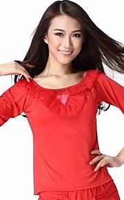 Dancewear Viscose Half Sleeve Latin Dance Top voor dames meer kleuren