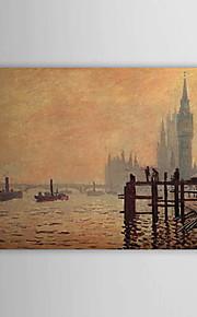 Peinture à l'huile réalisée à la main sur canevas tendu - La Tamise à Westminster de Claude Monet