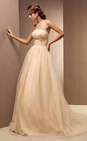 Lanting Bride® Trapèze Petites Tailles / Grandes Tailles Robe de Mariage - Classique & Intemporel Colorées Traîne Brosse Sans Bretelles