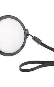 Mennon 49mm lente de la cámara Balance de blancos Tapa con correa de mano (Negro y Blanco)