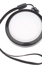 Mennon Cámara 46mm lente Balance de blancos Tapa Cubierta con correa de mano (Negro y Blanco)