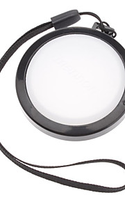 MENNON 46mm Camera Witbalans lensdop Cover met Hand Strap (Zwart & Wit)
