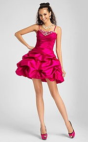 Cocktail Party / Homecoming / Prom / Sweet 16 Dress - Fuchsia Plus Sizes / Petite Princess / Ball Gown / A-lineSweetheart / Spaghetti