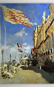 Peinture à l'huile célèbre Hôtel des Roches Noires, Trouville par Claude Monet
