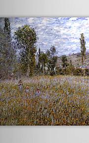 Huile célèbre tableau A Meadow par Claude Monet