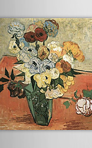 Famous Oil Painting Japanese-vase-with-roses-and-anemones by Van Gogh