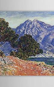 Peinture à l'huile célèbre Cap Martin par Claude Monet
