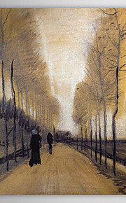 Famous Oil Painting Alley Bordered by Trees by Van Gogh