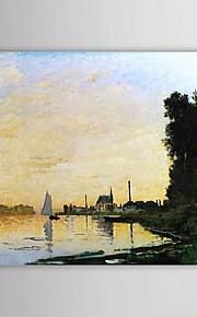 Célèbre peinture à l'huile Argenteuil, Late Afternoon par Claude Monet