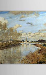 Célèbre peinture à l'huile Argenteuil Vu du petit bras de la Seine par Claude Monet