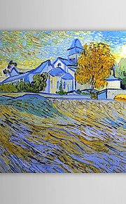 Famous Oil Painting View of the Church of Saintpauldemausole by Van Gogh