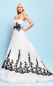 Lanting Bride® Robe de Soirée Petites Tailles Grandes Tailles Robe de Mariage - Chic & Moderne Elégant & Luxueux Colorées Traîne Tribunal